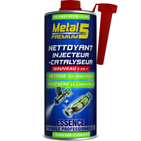 METAL 5 Premium - Nettoyant Injecteur + Catalyseur Essence - 1L